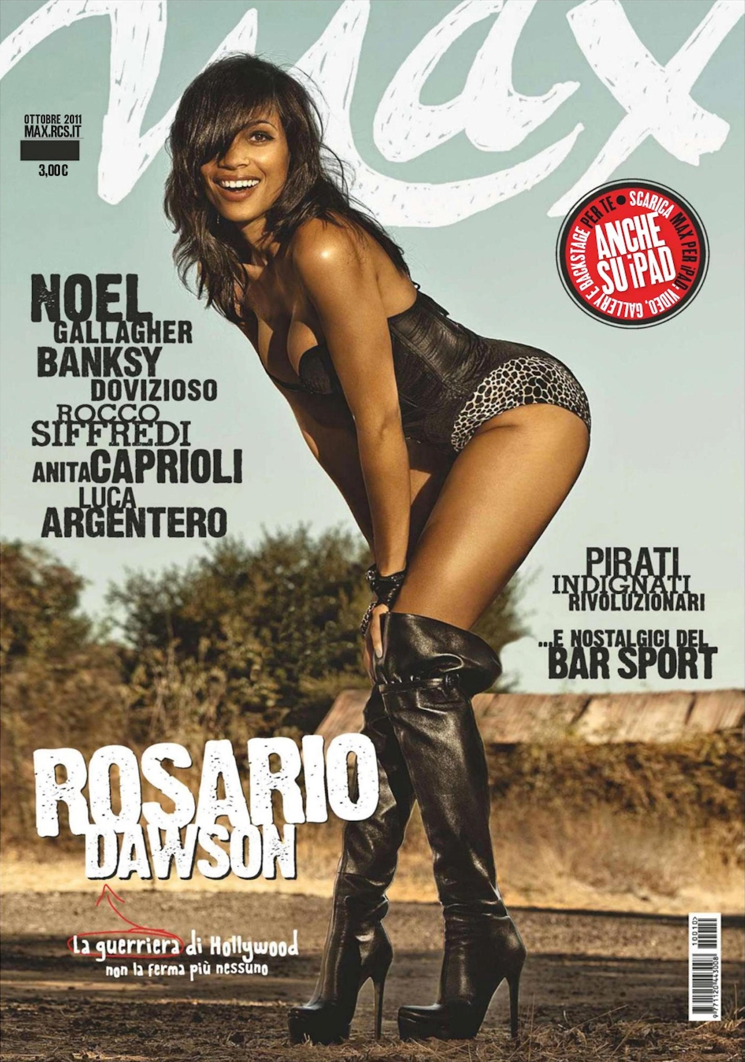 Rosario Dawson Covers Max Magazine Italy   Urbanboss