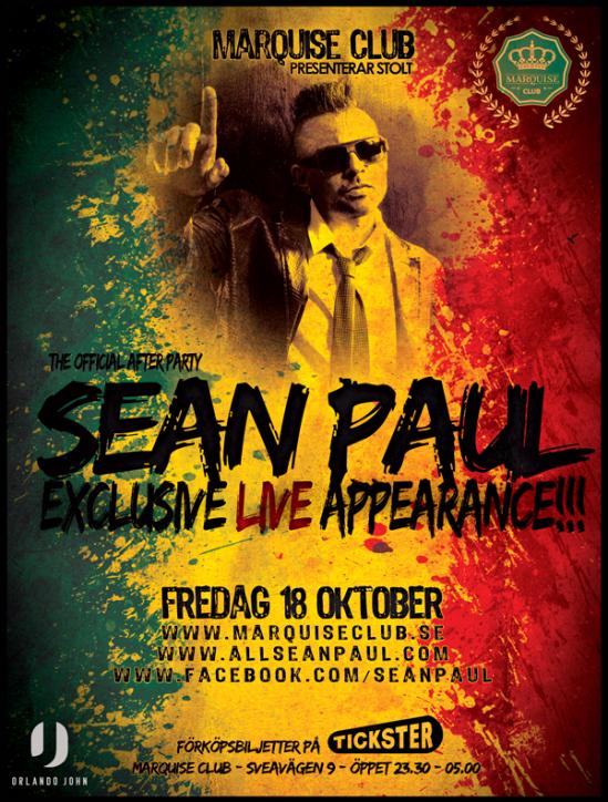 Sean Paul hosting Marquise Club