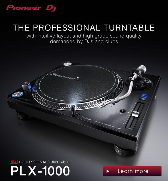 pioneer premieres new turntable plx 1000 urbanboss. Black Bedroom Furniture Sets. Home Design Ideas